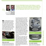 JEC Composites Magazine July 2013 _ Scott Bader Crestapol 1250 Rally car CF body panels case study article