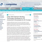 Netcomposites website Clean Filament Winding Technology PR coverage